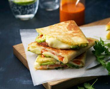 avocado-mozzarella-quesadillas